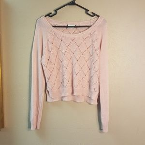 Cropped summer sweater